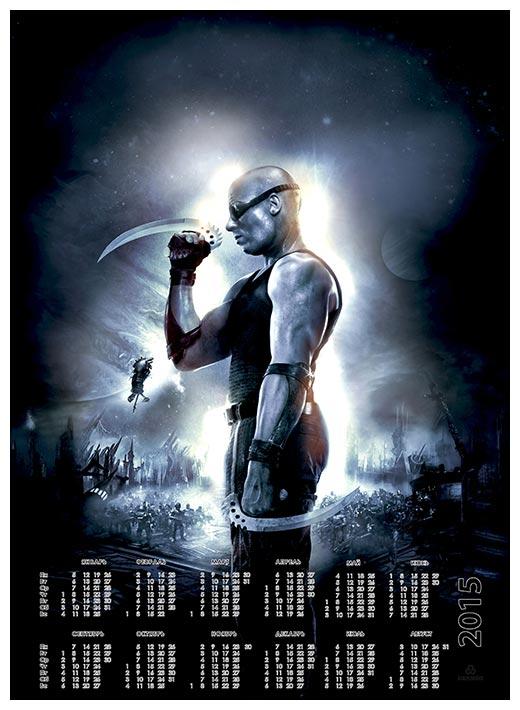 Настенный календарь Chronicles of Riddick / Хроники Риддика