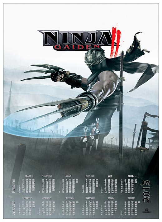 Настенный календарь Ninja Gaiden / Ninja Gaiden
