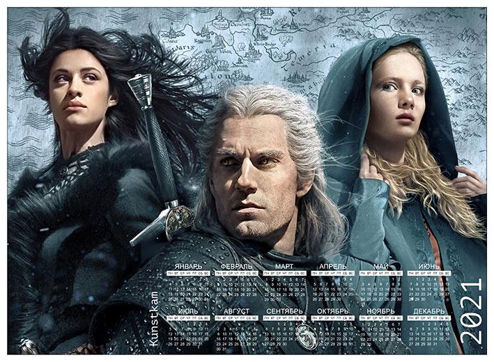 Настенный календарь Witcher / Ведьмак