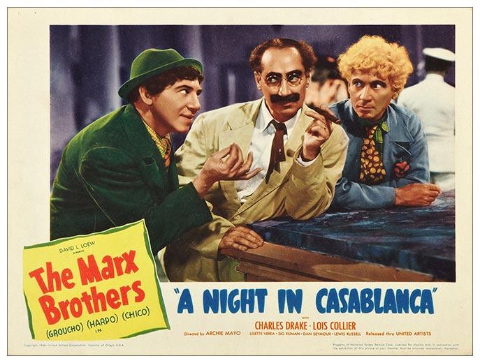 Портретный постер Night in Casablanca / Ночь в Касабланке