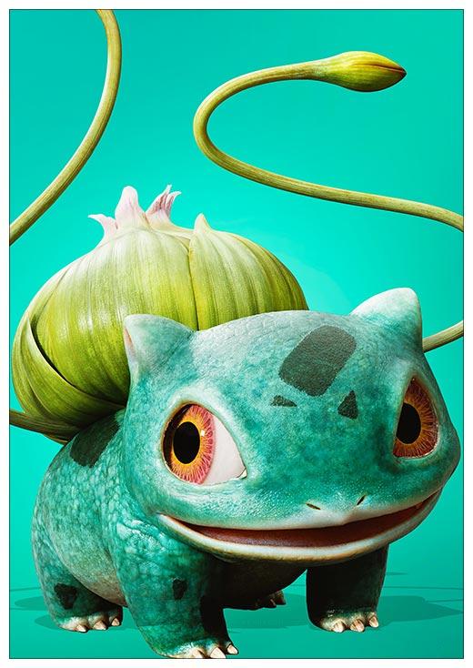 Портретный постер Pokemon / Покемон / Pocket Monsters /  ポケットモンスター