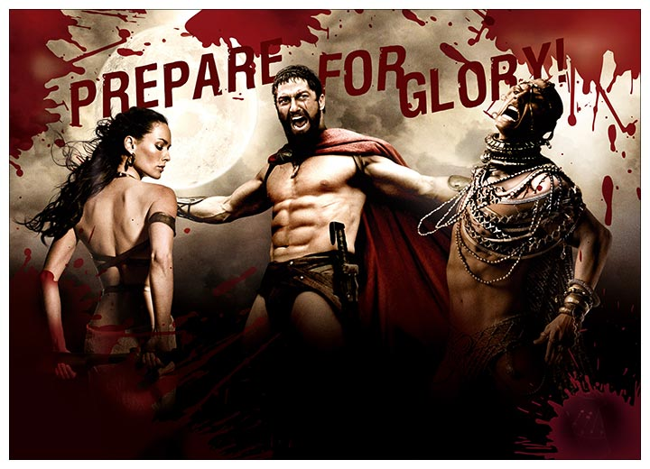 Панорамный постер 300 / 300 спартанцев