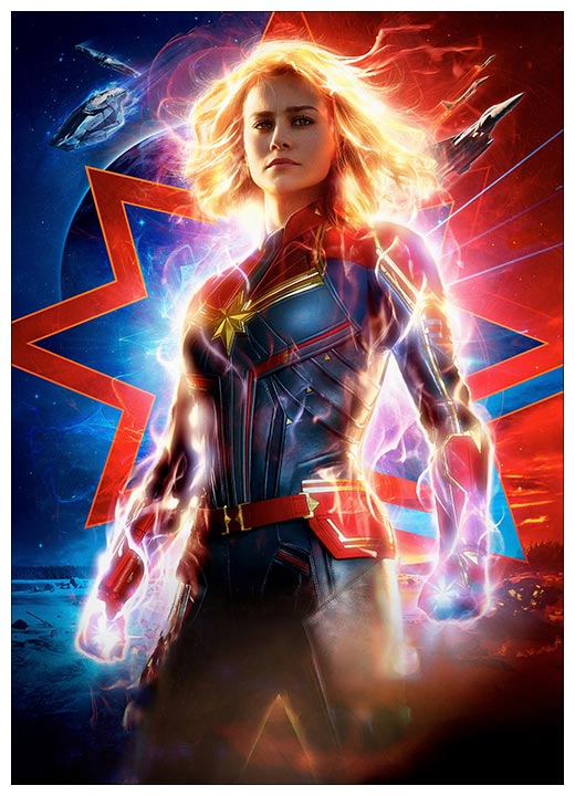 Панорамный постер Captain Marvel / Капитал Марвел