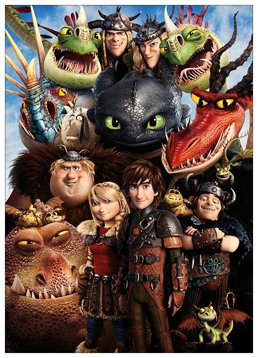 Панорамный постер How to Train Your Dragon / Как приручить дракона