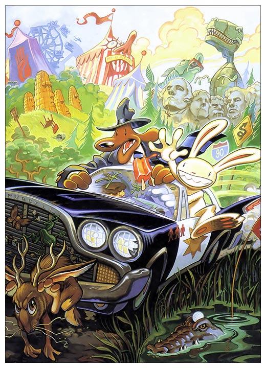 Панорамный постер Sam and Max / Сэм и Макс