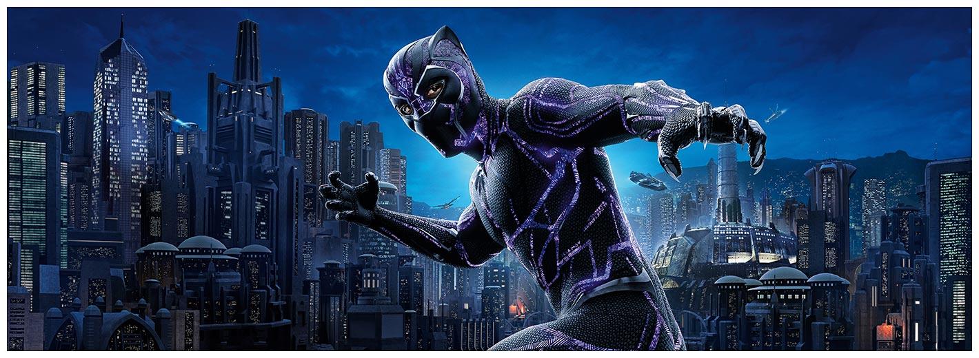 Подарочная обёртка для постеров Black Panther / Чёрная Пантера