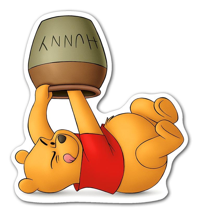 Фигурная наклейка Winnie the Pooh / Винни-Пух