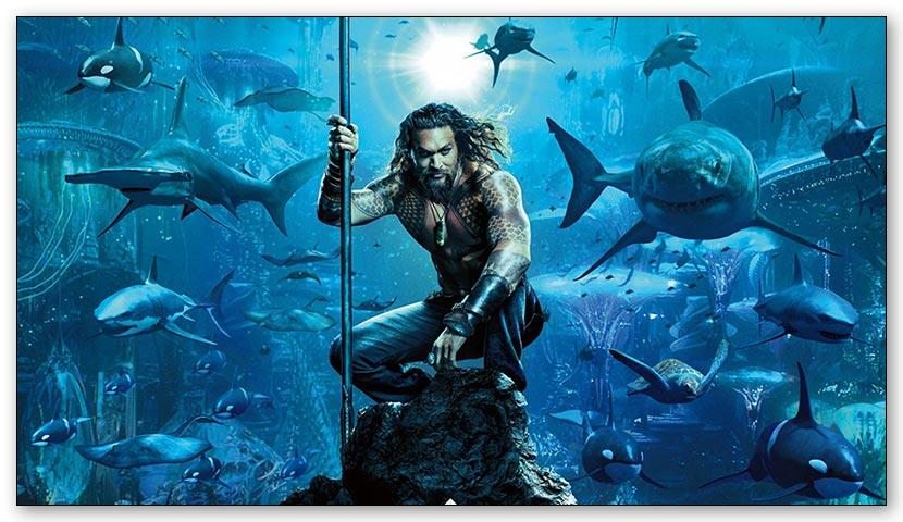 Магнит с металлическим отливом Aquaman / Аквамен