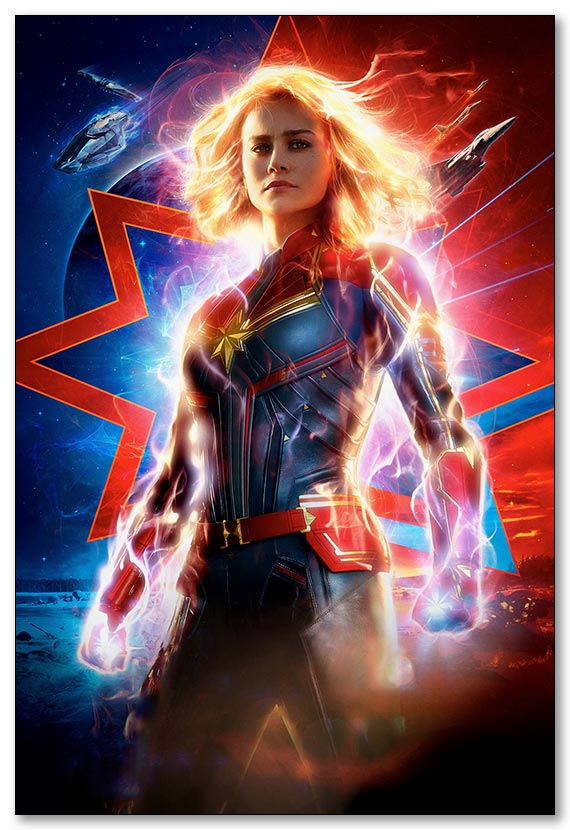 Магнит с металлическим отливом Captain Marvel / Капитал Марвел
