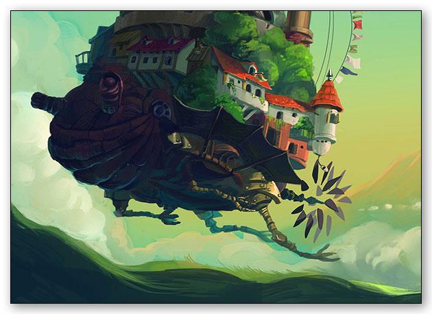 Универсальная наклейка Howl's Moving Castle / Ходячий замок Хаула / Howl no Ugoku Shiro / ハウルの動く城