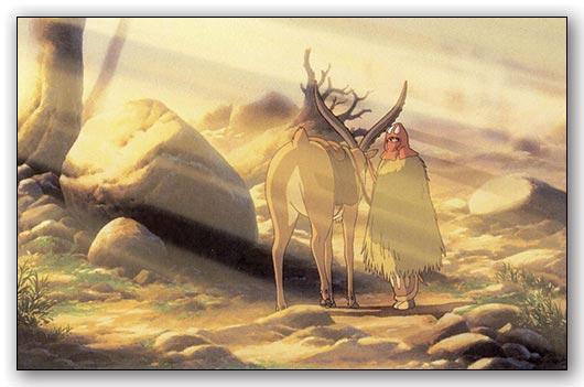Универсальная наклейка Princess Mononoke / Принцесса Мононокэ / Mononoke Hime / もののけ姫