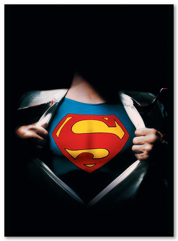 Гибкий магнит (большой) Superman / Супермен