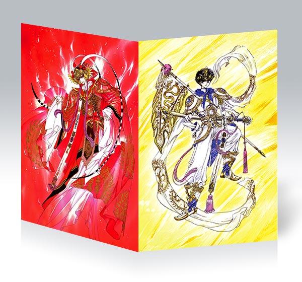 Поздравительная открытка Magic Knight Rayearth / Мистический рыцарь Раэрт / Mahou Kishi Rayearth / 魔法騎士レイアース