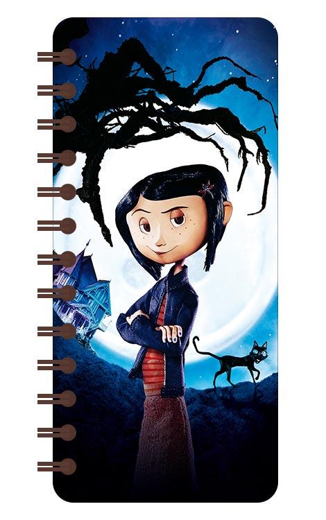 Записная книжка в бирюзовой гамме (71 лист) Coraline / Коралина
