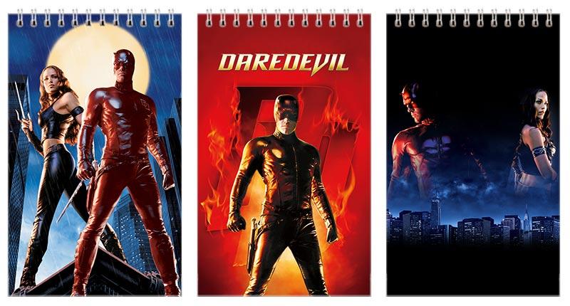 Набор маленьких универсальных блокнотов Daredevil / Сорвиголова