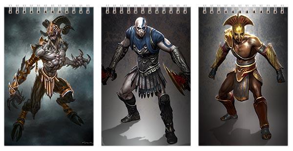 Набор маленьких блокнотов God of War / God of War
