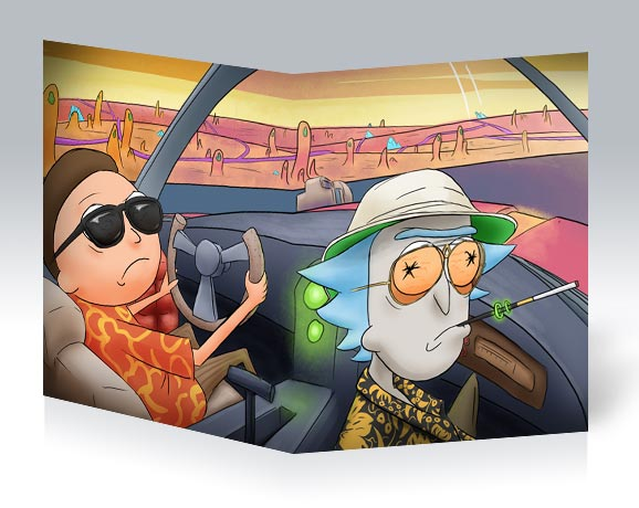 Тонкая школьная тетрадь Rick and Morty / Рик и Морти