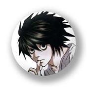 Маленький значок Death Note