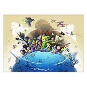 Панорамный постер Legend of Zelda