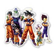 Фигурная наклейка по Dragon Ball Z