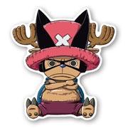 Фигурная наклейка по One Piece