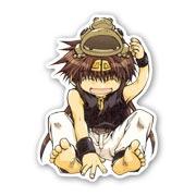 Фигурная наклейка по Saiyuki