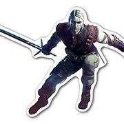 Фигурная наклейка Witcher