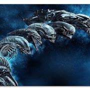 Магнит с металлическим отливом Alien
