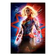 Магнит с металлическим отливом Captain Marvel