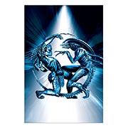 Прямоугольная интерьерная наклейка Aliens vs Predator