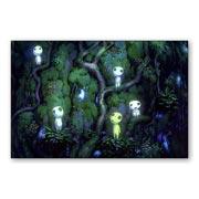 Прямоугольная интерьерная наклейка Princess Mononoke