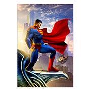 Прямоугольная интерьерная наклейка Superman