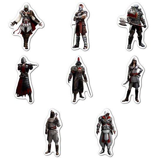 Набор мобильных наклеек Assassin's Creed
