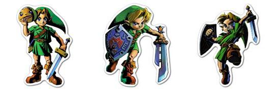 Набор мобильных наклеек Legend of Zelda