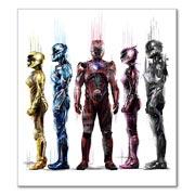 Прозрачная наклейка Power Rangers