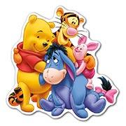 Прозрачная наклейка Winnie the Pooh