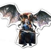 Прозрачная наклейка Witcher