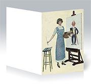 Поздравительная открытка Ретро