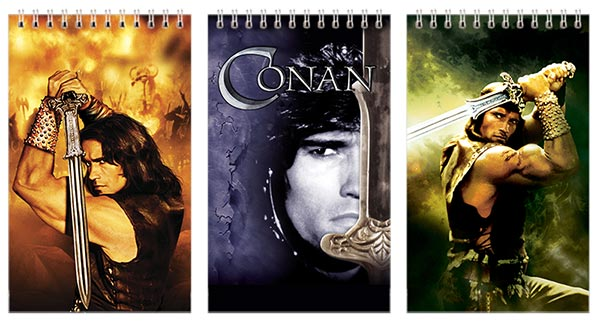 Набор маленьких универсальных блокнотов Conan the Barbarian