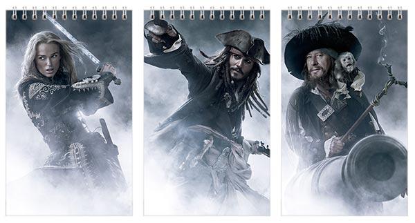 Набор маленьких универсальных блокнотов Pirates of the Caribbean